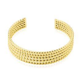 Bracelet Jonc Acier Dore Anthonyn - Bracelets fantaisie Femme   Histoire d'Or