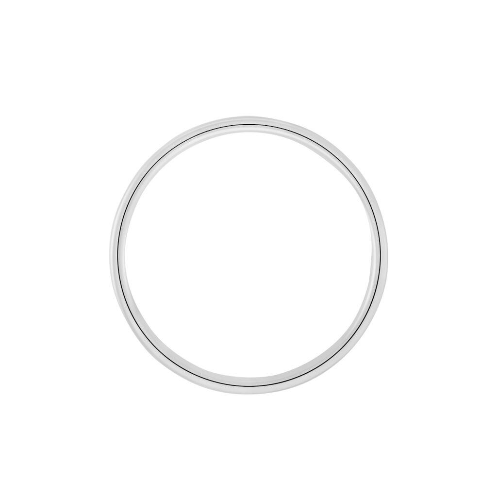Alliance Ikhlas Ruban Plat Argent Blanc - Alliances Homme   Histoire d'Or