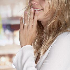 Bague Solitaire Adem Or Blanc Oxyde De Zirconium - Bagues solitaires Femme | Histoire d'Or