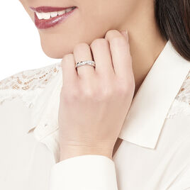 Bague Celya Argent Blanc Oxyde De Zirconium - Bagues avec pierre Femme   Histoire d'Or
