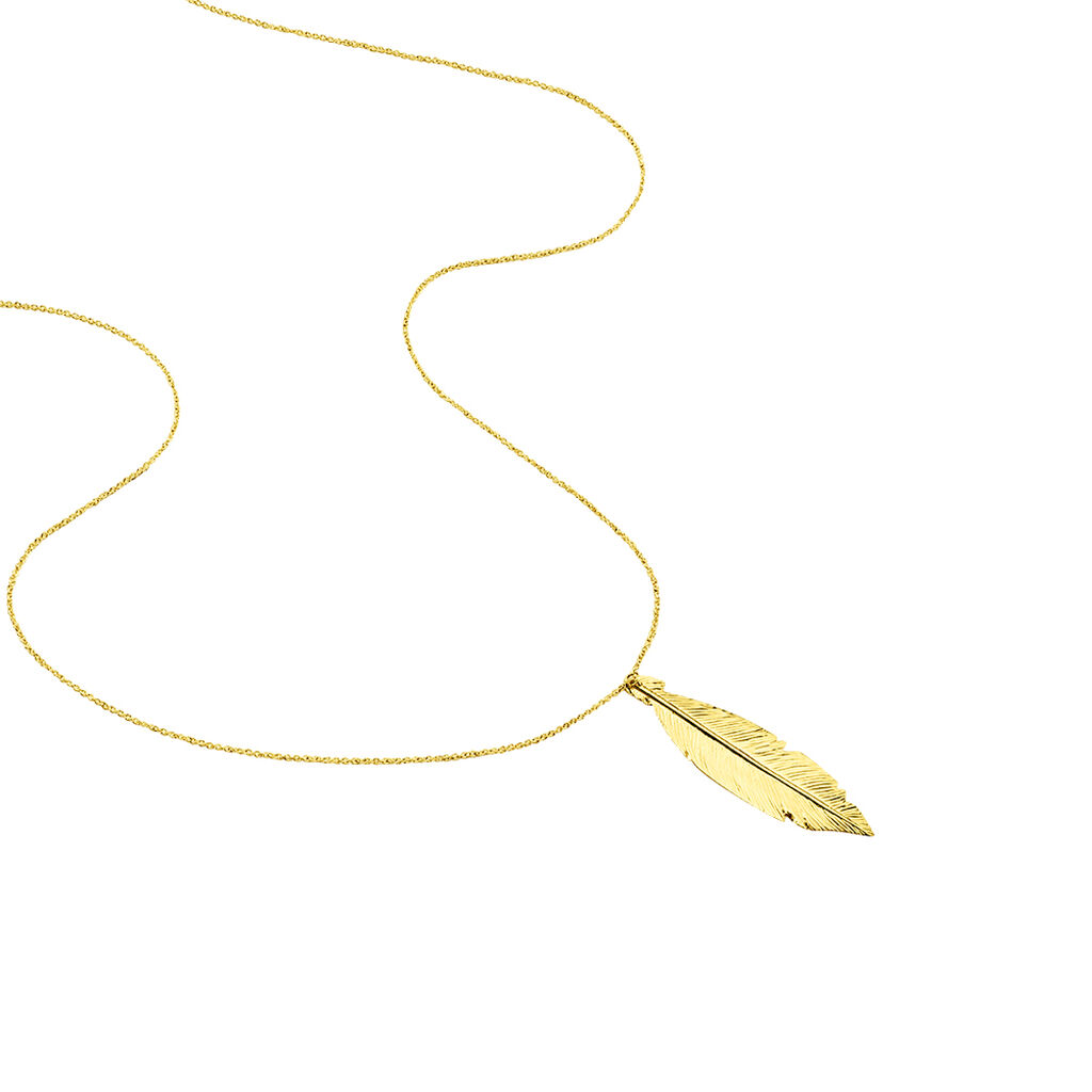 Collier Soline Or Jaune - Colliers Plume Femme   Histoire d'Or