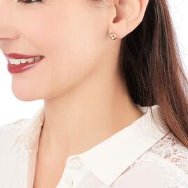 Boucles D'oreilles Plaque Or Jaune Boule - Boucles d'oreilles fantaisie Femme | Histoire d'Or