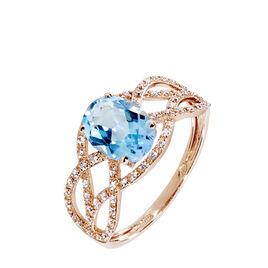 Bague Tina Or Rose Topaze Et Diamant - Bagues avec pierre Femme   Histoire d'Or