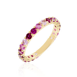 Bague Zoelia Plaque Or Jaune Perle D'imitation - Bagues avec pierre Femme   Histoire d'Or