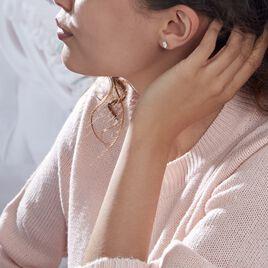Boucles D'oreilles Puces Elea Or Jaune Oxyde - Clous d'oreilles Femme | Histoire d'Or
