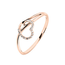 Bague Louise Or Rose Diamant - Bagues Coeur Femme | Histoire d'Or