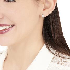 Boucles D'oreilles Puces Prudencia Or Jaune Topaze - Clous d'oreilles Femme | Histoire d'Or