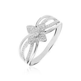 Bague Lilyana Or Blanc Diamant - Bagues avec pierre Femme | Histoire d'Or