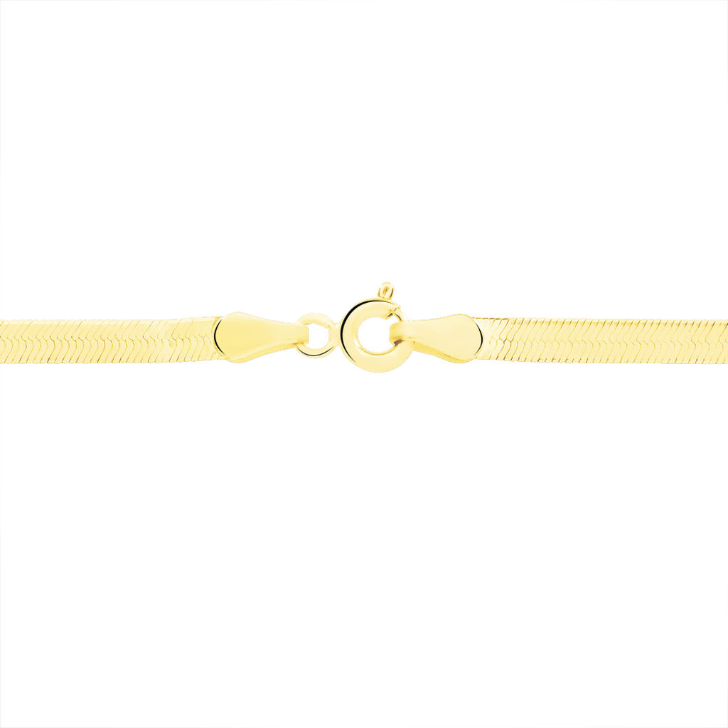 Collier Ivria Maille Heringbone Or Jaune - Chaines Femme | Histoire d'Or