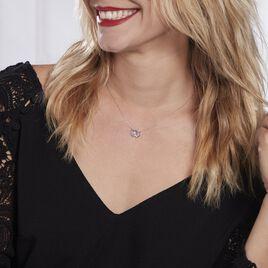 Collier Or Blanc Melisenda Saphirs - Colliers Coeur Femme   Histoire d'Or