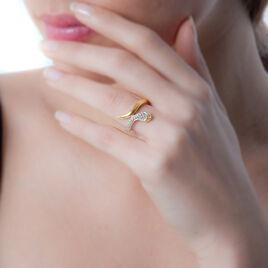 Bague Reyyanae Plaque Or Jaune Oxyde De Zirconium - Bagues avec pierre Femme | Histoire d'Or