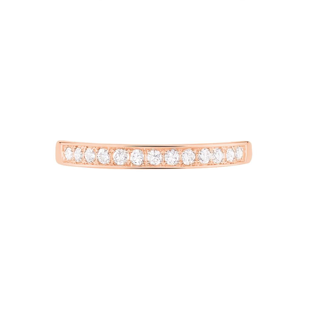 Alliance Juliette Or Rose Diamant - Alliances Femme | Histoire d'Or