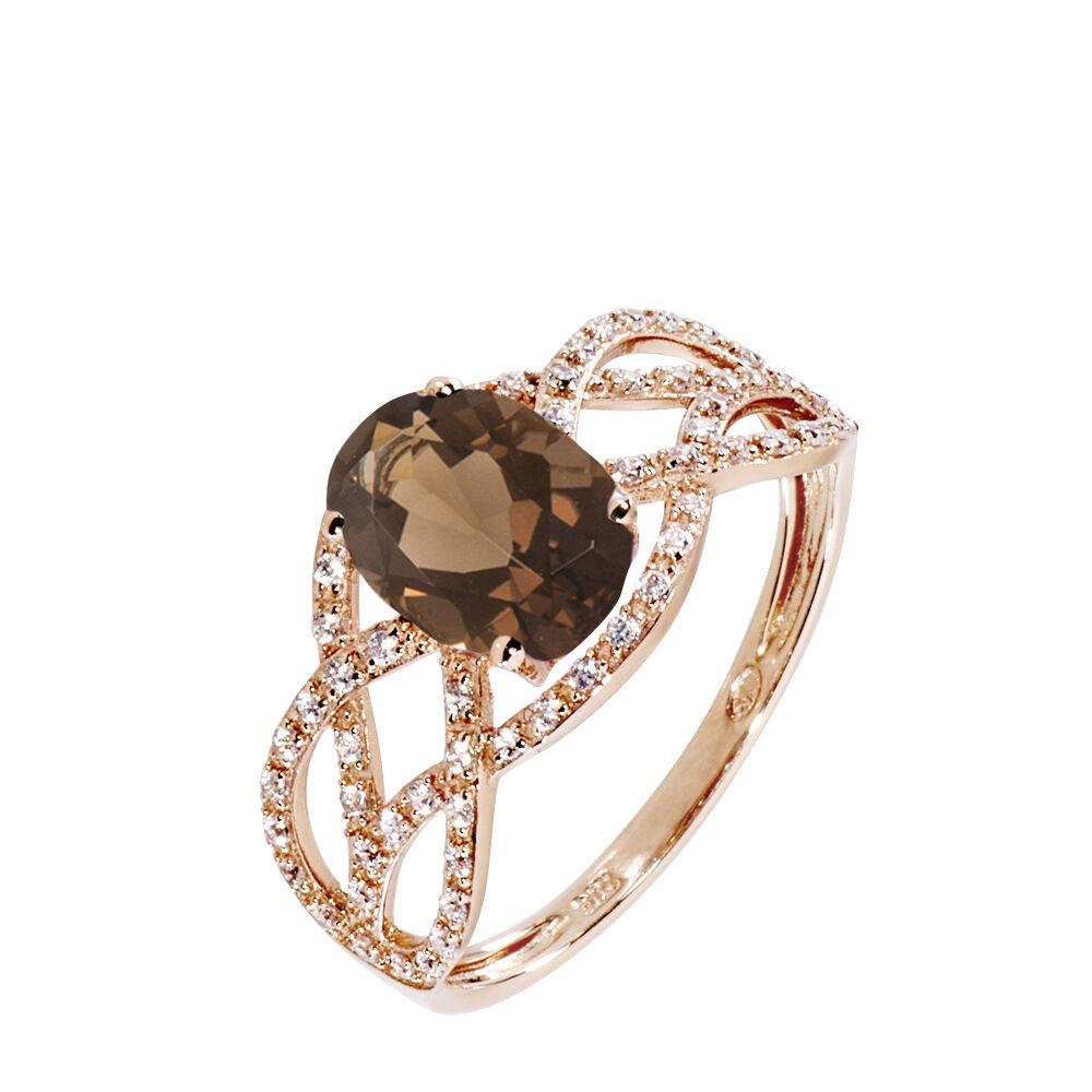 Bague Tina Or Rose Quartz Et Diamant de modèles