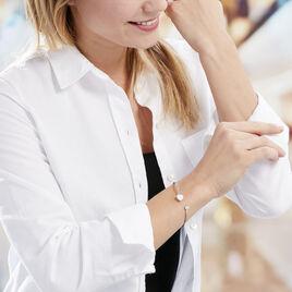 Bracelet Jonc Domitylle Argent Blanc Oxyde De Zirconium - Bracelets Coeur Femme | Histoire d'Or