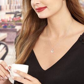 Collier Sohaliaae Argent Blanc Perle De Culture Et Oxyde De Zirconium - Colliers fantaisie Femme   Histoire d'Or