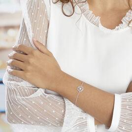 Bracelet Armando Argent Blanc Oxyde De Zirconium - Bracelets fantaisie Femme   Histoire d'Or