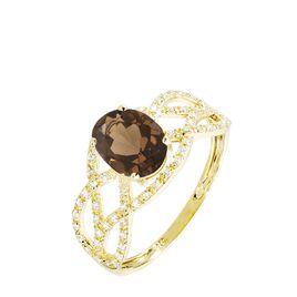 Bague Tina Or Jaune Quartz Et Diamant - Bagues avec pierre Femme | Histoire d'Or