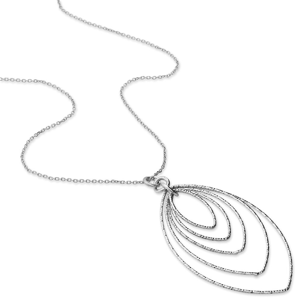 Collier Chayan Argent Blanc - Colliers Plume Femme | Histoire d'Or