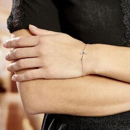 Bracelet Argent Rhodie Florian Oxydes De Zirconium - Bracelets Croix Femme   Histoire d'Or