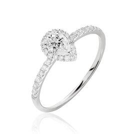 Bague Solitaire Tatiana Platine Blanc Diamant - Bagues avec pierre Femme | Histoire d'Or