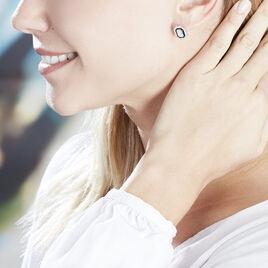 Boucles D'oreilles Pendantes Alioune Argent Blanc Oxyde De Zirconium - Boucles d'oreilles pendantes Femme | Histoire d'Or
