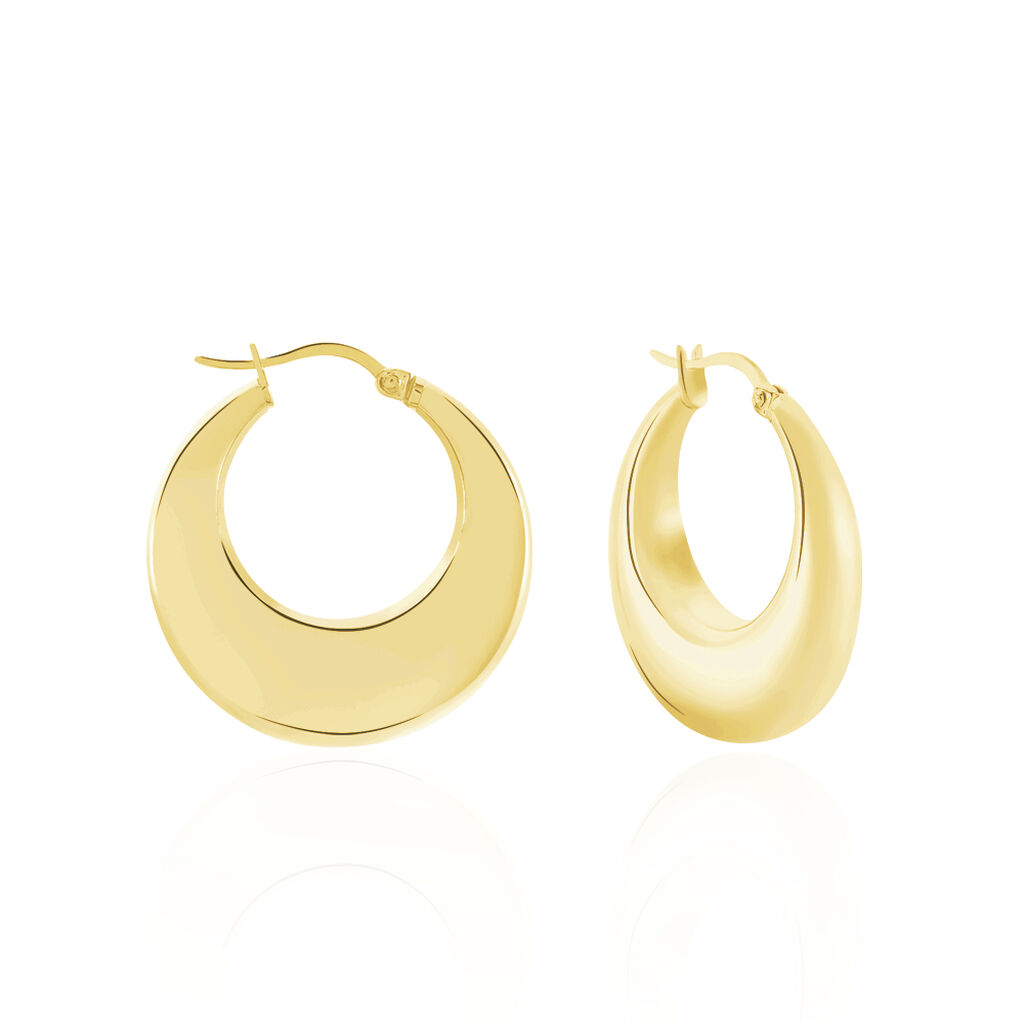 Créoles Creolia Acier Jaune - Boucles d'oreilles créoles Femme | Histoire d'Or
