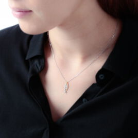 Collier Zuleyha Or Bicolore Diamant - Bijoux Femme | Histoire d'Or