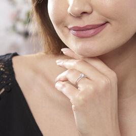 Bague Solitaire Cesarine Or Blanc Oxyde De Zirconium - Bagues solitaires Femme | Histoire d'Or