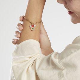 Bracelet Disney Acier Doré Cristaux - Bracelets fantaisie Femme   Histoire d'Or