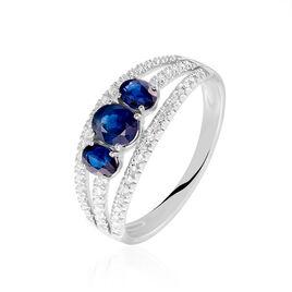 Bague Arleta Or Blanc Saphir Et Diamant - Bagues avec pierre Femme | Histoire d'Or
