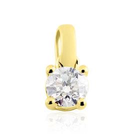 Pendentif Or Jaune Victoria Diamant - Pendentifs Femme   Histoire d'Or