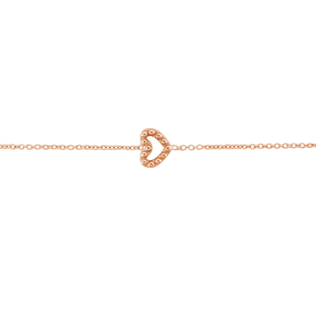 Bracelet Menel Argent Rose - Bracelets Coeur Femme   Histoire d'Or