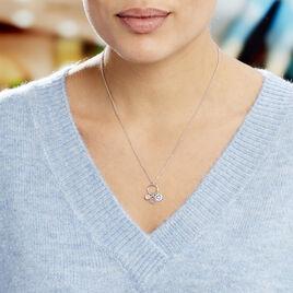 Collier Gioria Argent Blanc Oxyde De Zirconium - Colliers Coeur Femme | Histoire d'Or