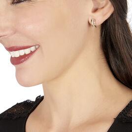 Boucles D'oreilles Pendantes Allyson Or Jaune Oxyde De Zirconium - Boucles d'Oreilles Coeur Femme | Histoire d'Or