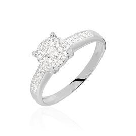 Bague Serena Or Blanc Diamant - Bagues avec pierre Femme | Histoire d'Or