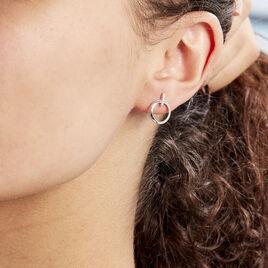 Boucles D'oreilles Puces Melissande Or Blanc Diamant - Clous d'oreilles Femme | Histoire d'Or