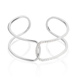 Bracelet Jonc Coleen Argent Blanc Oxyde De Zirconium - Bracelets joncs Femme | Histoire d'Or