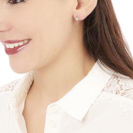 Boucles D'oreilles Puces Fidelia Or Rose Diamant - Boucles d'Oreilles Coeur Femme | Histoire d'Or