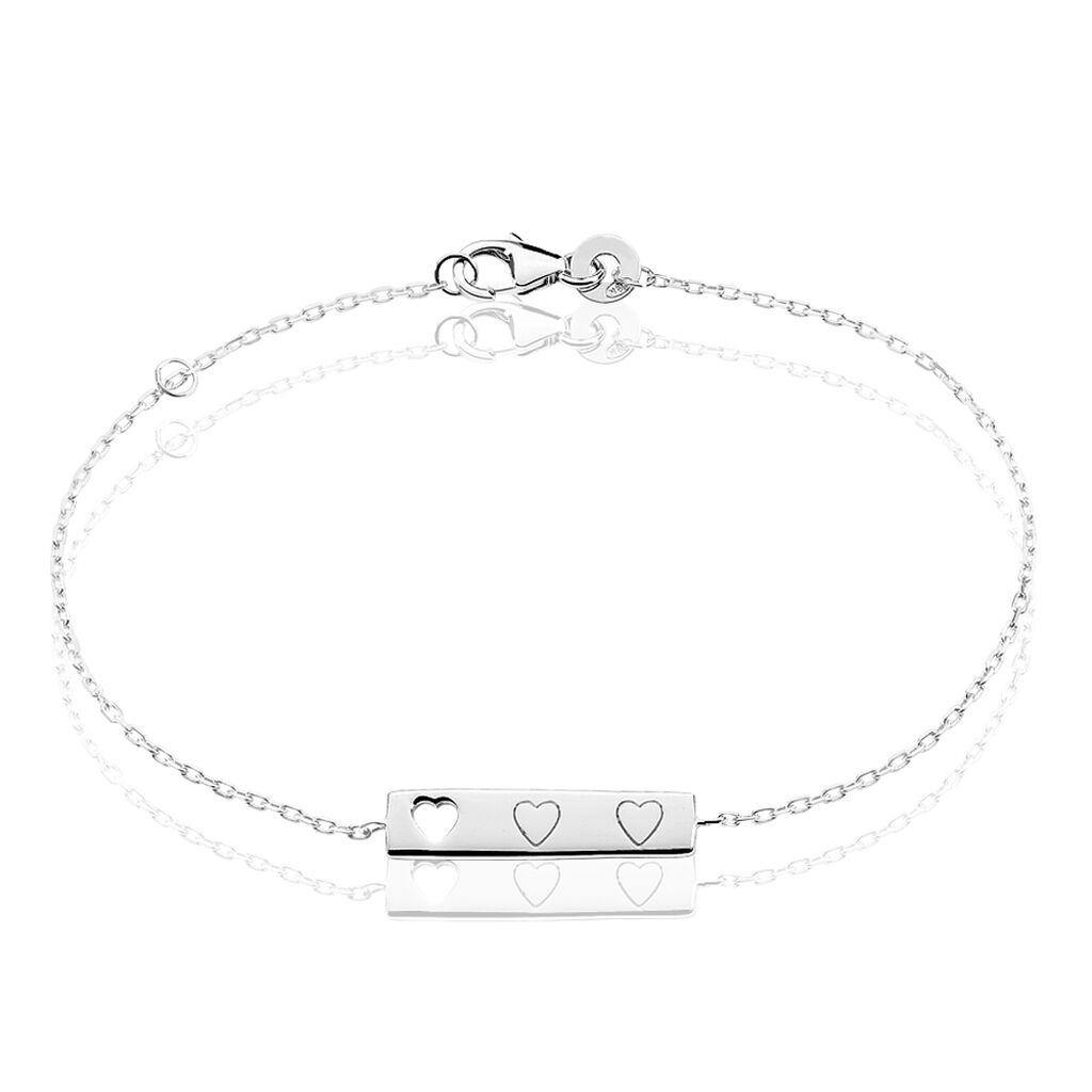 Bracelet Meriem Argent Blanc - Bracelets Coeur Femme | Histoire d'Or