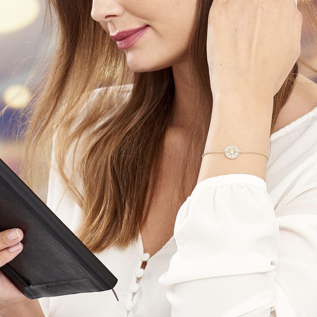Bracelet Maria-carmen Plaque Or Jaune Oxyde De Zirconium - Bijoux Etoile Femme   Histoire d'Or
