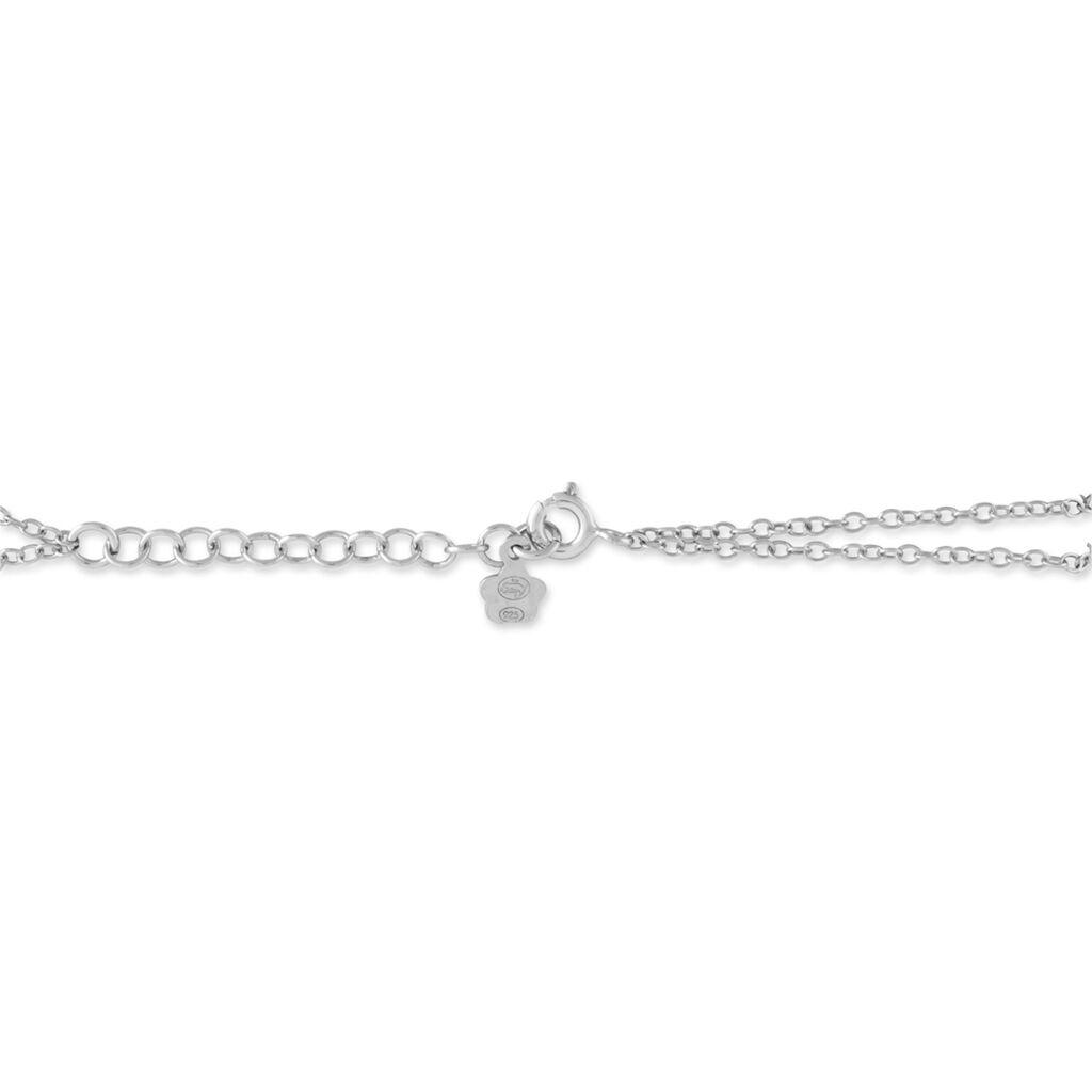 Bracelet Evren Argent Blanc Pierre De Synthese Et Olivine - Bracelets fantaisie Femme   Histoire d'Or