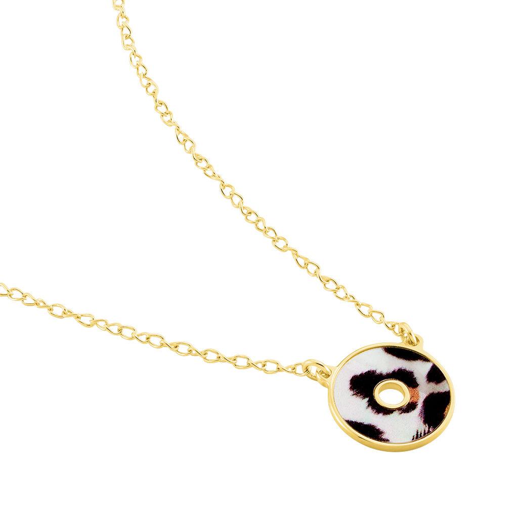 Collier Leos Argent Jaune Nacre - Colliers fantaisie Femme | Histoire d'Or