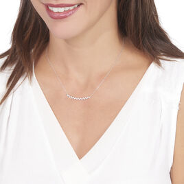 Collier Abby-gaelle Or Blanc Oxyde De Zirconium - Bijoux Femme | Histoire d'Or