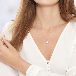 Collier Mesmin Argent Blanc Perle De Culture Et Oxyde De Zirconium - Colliers fantaisie Femme | Histoire d'Or