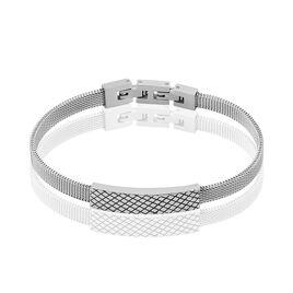 Bracelet Clement Acier Blanc - Bracelets fantaisie Homme | Histoire d'Or
