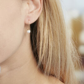 Creoles Or Jaune Alone Amande Perle - Boucles d'oreilles créoles Femme | Histoire d'Or