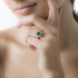 Bague Vladimir Or Jaune Emeraude Et Diamant - Bagues solitaires Femme | Histoire d'Or