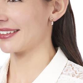 Boucles D'oreilles Pendantes Anne-emilie Plaque Or Oxyde De Zirconium - Boucles d'oreilles fantaisie Femme | Histoire d'Or