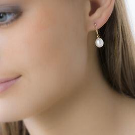 Boucles D'oreilles Pendantes Ivanne Or Jaune Perle De Culture - Boucles d'oreilles pendantes Femme | Histoire d'Or