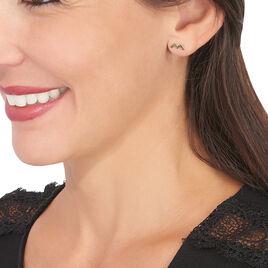 Boucles D'oreilles Puces Galla Or Jaune - Clous d'oreilles Femme   Histoire d'Or